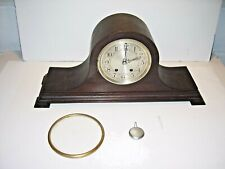 Vintage Herschede Hall Chime Mantel Clock, # 30734, with Grand Prize Brass Tag