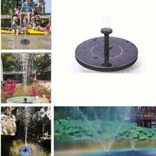 Solar Panel Water Fountain Powered Pump Garden Pool Pond Floating Bath Aquarium