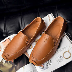 Mens Comfort Breathable Casual Slip on Loafer Driving Gommino Outdoor Boat Shoes