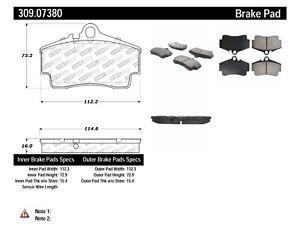 StopTech For Porsche 911, Boxster Disc Brake Pad Set Rear Centric - 309.07380