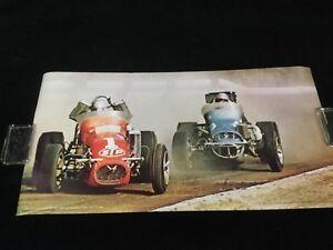 Vintage Road & Track 1971 Poster  Mario Andretti 100 Miler USAC at Sacramento Ca