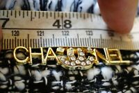 One 1 Auth Chanel button 1 pieces  cc 4,5 cm   Long  Emblem Gold