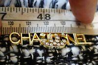 One 1 Auth Chanel button 1 pieces  cc 4,5 cm   Long  Emblem Gold