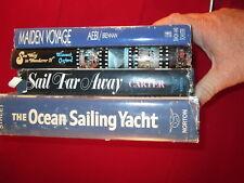 Lot of 4 SAILING books MAIDEN VOYAGE, WONDERER, SAIL FAR AWAY, OCEAN SAILING