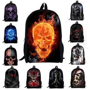Skull Zombie Backpack School Fashion Shoulder Bag For Boys Girls Rucksack Women