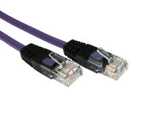 PURPLE 2m Crossover Cat5E RJ45 Network Cable Connects Laptop to Games Console