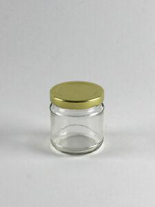 50 x 4oz Round Glass Honey Jar with Gold Lid NEXTDAY