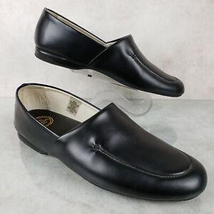 LB Evans Duke Opera Black Leather Slip On Luxury Slippers Loafers Men's 9 M