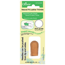 Clover Leather Natural Fit Thimble - Full Range of Sizes Available!