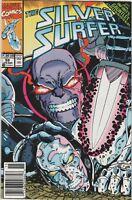 Silver Surfer #59 1991 vf Thanos Infinity Gauntlet Newsstand variant