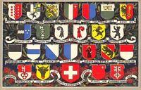 Vintage Switzerland Postcard, Coats of Arms, Badges, Flags DP1