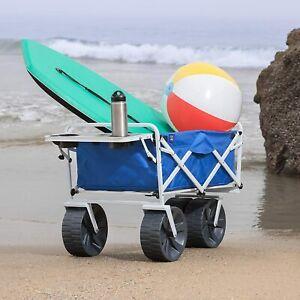 Outdoor Portable Heavy Duty Collapsible Folding All Terrain Utility Wagon Cart