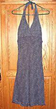 Size 5 Juniors Halter Black/White Polka Dot Formal Wedding Cocktail Dress