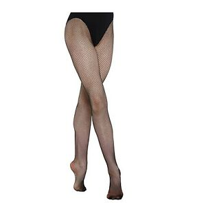 Children Girls Fishnet Dance Tights Footed Net Tight -Black  Age 11-13  Years