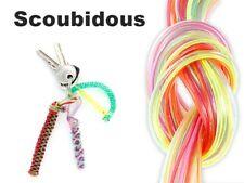 Scoubidou Knüpfbänder Flecht-bänder Glitter Flechtschnüre Scoubidous 100 Stk.