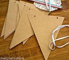 DIY Blank kraft triangle bunting/banner kit-wedding,party,baby shower decoration