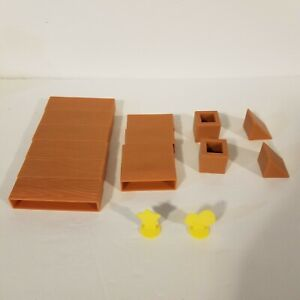 Angry Birds Knock On Wood Game Replacement Parts Pieces Building Blocks Star Egg