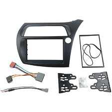 Radio Fascia for Honda Civic Double Din Trim Kit With ISO Wiring Aerial Frame