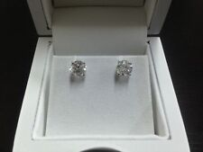 1.00 CT Round Cut Diamond Stud Earrings D SI1 14K White Gold engagement marriage