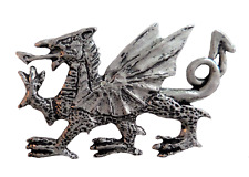 Wales Welsh Dragon Pewter Pin Badge - Hand Made in Cornwall