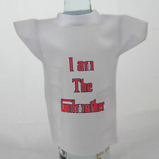 Bottle / miniature T-Shirt for godmother ideal fun christening gift