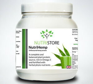 Vegetarian Vegan Hemp Protein Powder Shake plus Amino Acids and Fibre