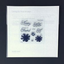 Close to my Heart A1198 Hi Friend CTMH Acrylic Stamps Set NEW Happy Hello Friend