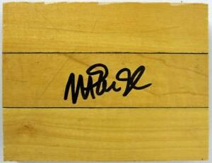 Lakers Magic Johnson Authentic Signed 4.5X6 Forum Floorboard PSA/DNA ITP
