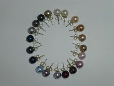 Perlen-Ohrstecker Ohrringe Perle 8mm Silber 925 Brautschmuck -Farbwahl-