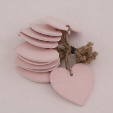Heart Woodland Pink Hanging Tags 6cm Bundle of 10