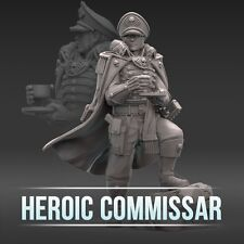 """28mm wargaming and collectible miniature, Heroic Commissar by """"W"""" Artel"""