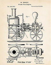 Steam Train Pictures Images Railroad History Patent Art Print Anorak Gift 11x14