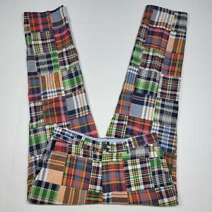 Brooks Brothers 346 Pants - Madras Patch Multicolor - Cotton - 33x32