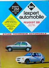 REVUE TECHNIQUE L'EXPERT AUTOMOBILE - 1989 - PEUGEOT 205 TOUS TYPES MOTEUR TU