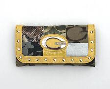 Women's Signature Purse Fashion Clutch Wallet Handbag #089 Faux Leather