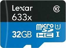 Lexar High Performance 633x microSDHC UHS-I Card with Adapter 32GB