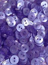 50 Blue Buttons 11mm (18L) 2 Hole #51