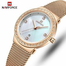 NAVIFORCE Fashion Womens Watch Casual Quartz Ladies Wristwatches Stainless Steel