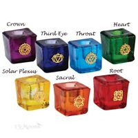 7 Chakra Meditation Candles Set, 7 Chakra Holders Set, or One Set of Each