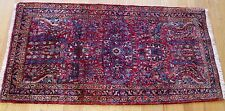 """2'2"""" x 4'   Fine Antique Persian Sarouk Hand Knotted  Wool Oriental Rug, 1920"""
