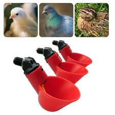 1pcs Chicken Drinking Cups Quail Water Bowls Bird Plastic Animal Cage Feeder