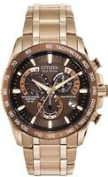 NEW Citizen Eco-Drive Men's AT4106-52X Perpetual Chrono A-T Rose Gold-Tone Watch