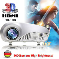 5000 Lumens LED Cinema Heimkino Beamer USB AV SD HDMI VGA TV Theater Projektor .