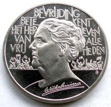 NETHERLANDS 2½ ECU 1995 UNC Wilhelmina, 40th Anniversary Liberation WW II H1.1