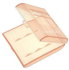 Confezione da 4 ROSSO VALIGETTE portaoggetti per 4x AA O BATTERIE AAA