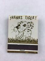 Vintage Thanks Tiger! Dancing Cat Matchbook