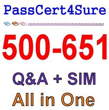 Cisco Security Architecture for Systems Engineer (SASE) 500-651 Exam Q&A PDF+SIM