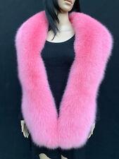 SALE! 70' Inch. Fox Fur Stole Saga Furs Big Scarf Pink Color