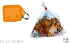 Kevron Key Ring Tags - Orange - Bag of 50 Tags - FREE SHIPPING & GST INVOICE