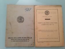 FIAT 507 DUE CATALOGHI ALBUM MANUALE ISTRUZIONI LISTINO PREZZI RICAMBI 1928 1930